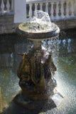 Фонтан с скульптурами гусынь Стоковые Изображения RF