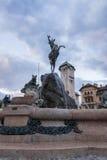 Фонтан с скульптурой козы Стоковые Изображения RF