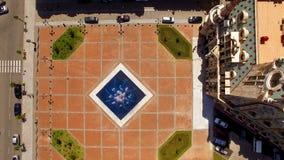 Фонтан с струями воды в середине квадрата Европы в Батуми Georgia, ориентир ориентире стоковые изображения rf