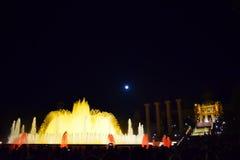 Фонтан танцев в Montjuic Барселоне Стоковая Фотография