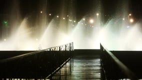 Фонтан танцев на ноче акции видеоматериалы