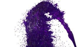 Фонтан фиолетовой жидкости как сок на белой предпосылке с пользой альфы штейновой оно любит канал альфы версия 4 иллюстрация штока