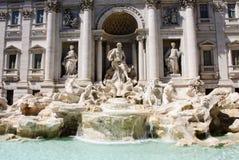 Фонтан Фонтана di Trevi Trevi большинств известный фонтан Рима, Италии Стоковая Фотография
