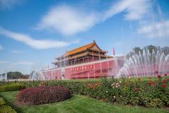 Фонтан фронта Тяньаньмэня музея национального дворца Пекина стоковое фото rf