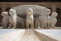Фонтан льва Стоковые Фото
