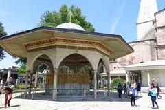 Фонтан для ритуальных омовений Hagia Sophia, Istambul, Турции стоковое фото rf