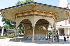 Фонтан для ритуальных омовений Hagia Sophia, Istambul, Турции стоковая фотография rf