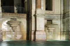 Фонтан Acqua Paola в Риме стоковое фото rf