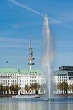 фонтан alster Стоковая Фотография RF