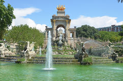 фонтан barcelona Стоковое Изображение