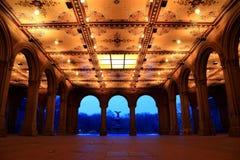фонтан bethesda аркады Стоковая Фотография