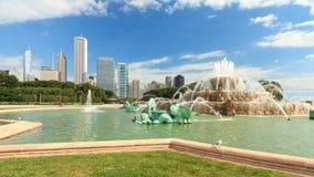 фонтан chicago buckingham Стоковая Фотография