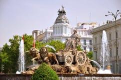 Фонтан Cibeles в Мадрид, Испании Стоковое Изображение RF