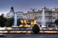 фонтан cibeles Стоковая Фотография