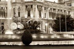 фонтан cibeles Стоковое Изображение