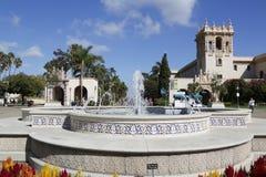 Фонтан de Панамы площади в парке бальбоа в Сан-Диего Стоковая Фотография