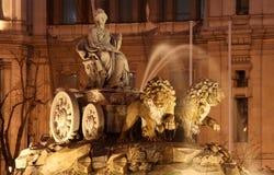 фонтан madrid Испания cibeles Стоковые Фотографии RF