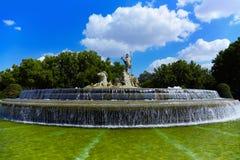 фонтан madrid Нептун Испания Стоковая Фотография