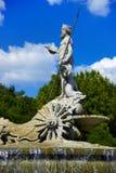 фонтан madrid Нептун Испания Стоковое Изображение