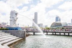 Фонтан Merlion в Сингапуре Стоковое Изображение RF