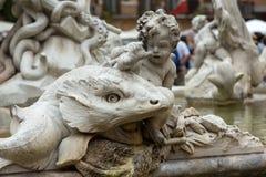 Фонтан Navona аркады Neptun Стоковые Фото
