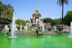 Фонтан Parc de Ла Ciutadella, Барселона, спы Стоковые Изображения RF