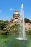 Фонтан Parc de Ла ciutadella - Барселоны Стоковое Изображение