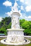 фонтан sochi города arboretum стоковая фотография rf