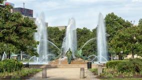 Фонтан Swann мемориальный, круг Logan, Филадельфия, Пенсильвания Стоковое фото RF