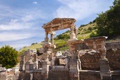 Фонтан Trajan, древний город Ephesus, Selcuk, Турция Стоковые Фото