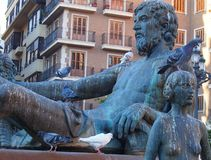Фонтан Turia, Площадь de Ла Virgen, Валенсия Стоковые Фотографии RF