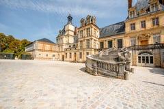 Фонтенбло с известной лестницей в Франции стоковое изображение