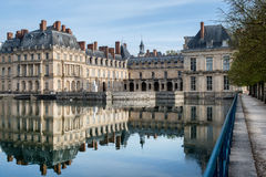 Фонтенбло, Франция - 16-ое августа 2015: Внешний взгляд стоковые фото