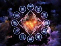 фон астрологии Стоковая Фотография