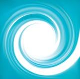 Фон вектора голубой завихряясь Стоковое Изображение