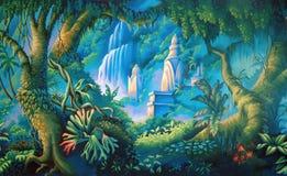 Фон джунглей Стоковые Изображения