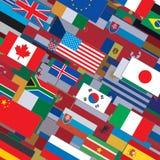 Фон коллажа флагов Стоковые Изображения RF