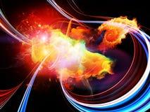 Фон межзвёздных облаков дизайна Стоковые Изображения RF