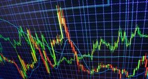 Фондовая биржа закавычит диаграмму стоковые фото