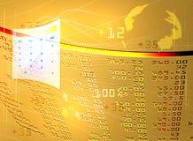 Фондовая биржа дисплея Стоковые Изображения