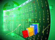 Фондовая биржа на экране Стоковые Фотографии RF