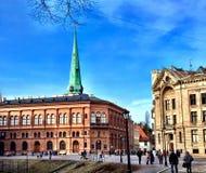 Фондовая биржа Риги музея изобразительных искусств Стоковое фото RF