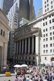 Фондовая биржа, Уолл-Стрит, Нью-Йорк Стоковые Фотографии RF