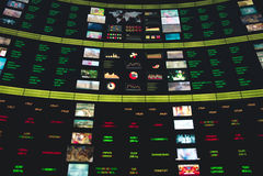 Фондовая биржа цифров на экспо Стоковое Фото