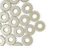Фон с шестернями и cogwheels Стоковые Изображения RF