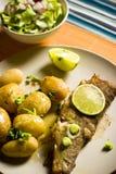 форель картошек Стоковое Фото