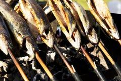 Форели на гриле Стоковое Изображение RF