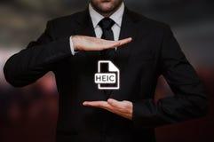 Формат графического файла HEIC высокой эффективности Стоковое Фото