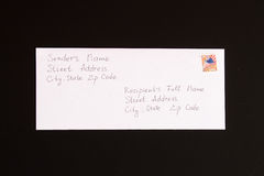 Формат прислужника и приемника письма стоковые изображения rf