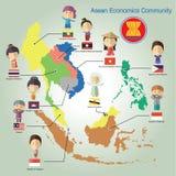 Формат eps10 общины экономики АСЕАН (AEC) Стоковое фото RF